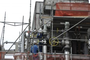 Building a manufacturing chemical plant in northwestern Ohio.
